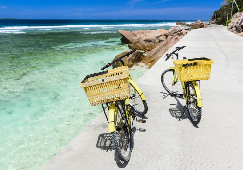 1. Bike ride La Digue