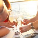 7. Sparkling wine on the boat