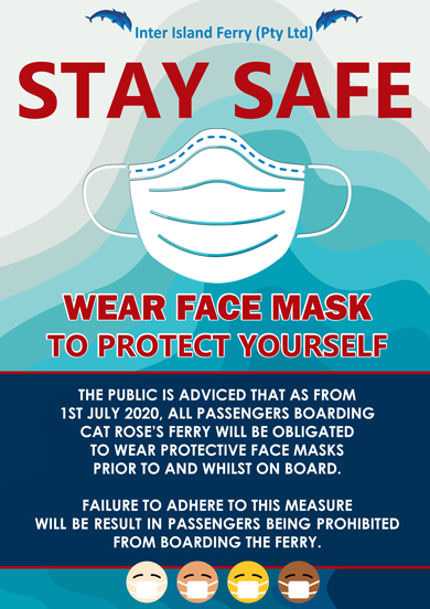 Inter Island Ferry Face Mask Required