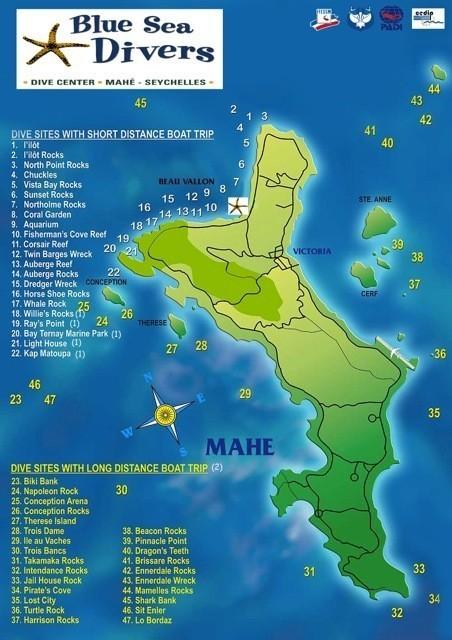 Mahe diving Selected dive operators Seychelles Bookings