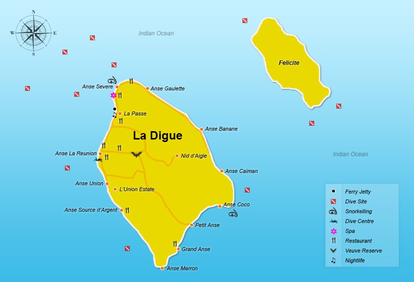 La Digue Seychelles Travel Tips Seychellesbookingscom - Map of seychelles world