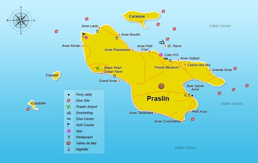 Praslin Island Seychelles World Map Praslin, Seychelles, travel tips   Seychellesbookings.com
