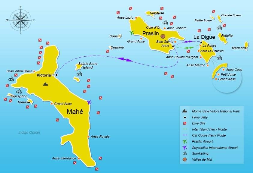 Seychelles Ferry From Mahe To Praslin And La Digue Seychelles - Seychelles